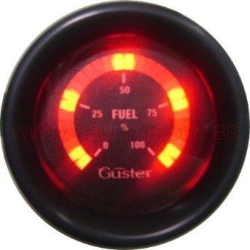 Marcador de nível de combustível digital disponível. Pode ser usado em diferentes tipos de veículos. Usa o sistema de bóia resistiva original do veículo ou adaptado de outro veículo. Consulte para motos e triciclos.