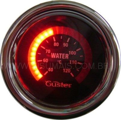 Usado para indicar a temperatura da agua ( 60 a 120°C ) ou óleo ( consulte ) . Com alarme visual programável ou alarme sonoro opcional. Acompanha sensor de temperatura. Consulte a linha resiste a água.